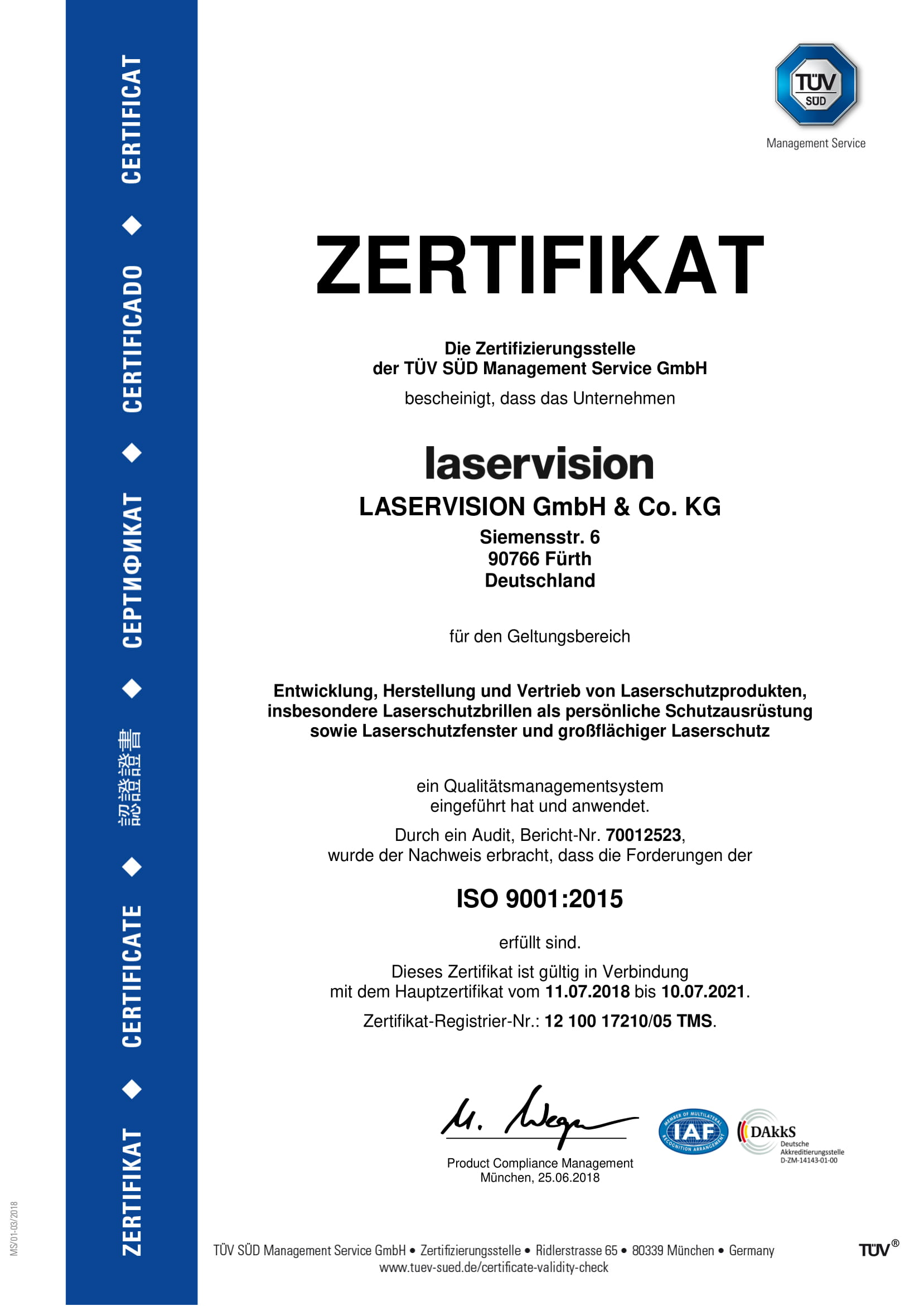 ISO 9001:2008 re-certified