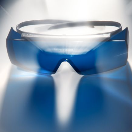 Laser safety eyewear by frame