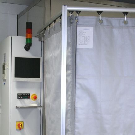 Laser safety curtains